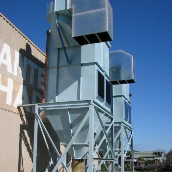 The Twin, Identical dust collectors designed for isolation.